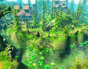 3D asset Fantasy Village Environment