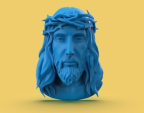 Jesus Face religiou-object 3D printable model
