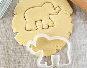 Elephant cookie cutter for professional 3D printable model
