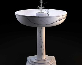 White marble fountain by Karl Lagerfeld 3d model