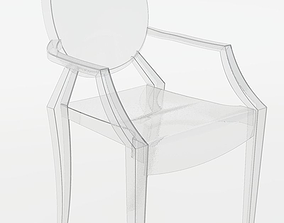 3D model Ghost Chair by Philippe Starck