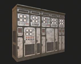 HQ PBR Switchboards 3D asset