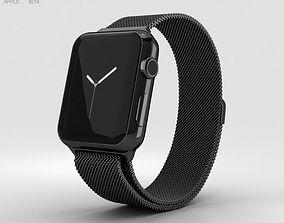 3D Apple Watch Series 2 38mm Space Black Stainless Steel 1