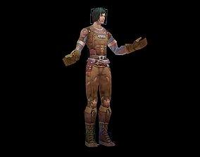 3D asset Biochemical female warrior