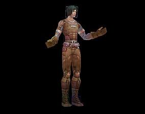 3D model Biochemical female warrior