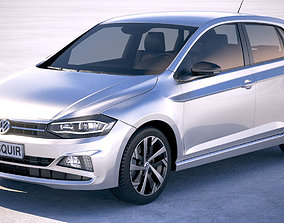 Volkswagen Polo 5-door 2018 3D