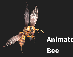 3D model animated bee