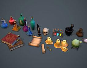 3D asset Alchemist set - game ready props