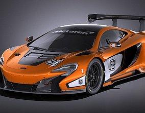 Mclaren 650S GT3 2017 VRAY race 3D model