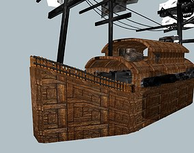 3D asset animated Pirates Ships