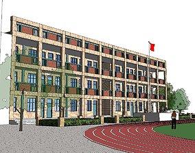 Office-Teaching Building-Canteen 24 3D
