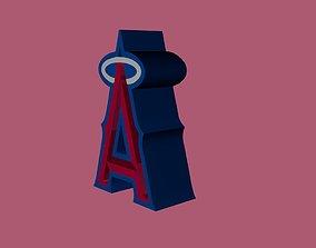 3D model Los Angeles Angels Team Logo