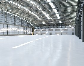 Airplane Hangar Interior 8 3D model