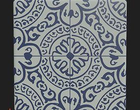 Tilable Porcelin tiles 3D asset