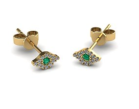 fashionable 3D print model Earrings