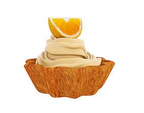 citrus 3D model Orange tart
