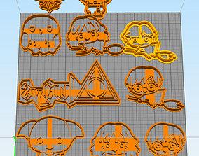 cookie cutter harry potter chibi pack set 3D print model