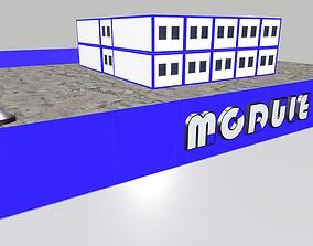3D model Presentation stand Modular building