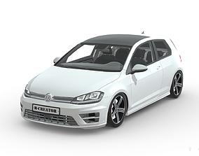 Volkswagen Golf GTI 3D asset