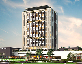 Design of a multi-use building 3D