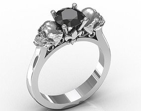 Skull Engagement Ring 3D printable model