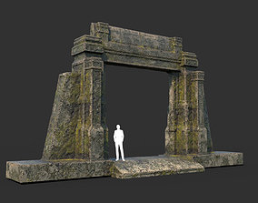 Low poly Mossy Ruin Temple Element 04 190403 3D model
