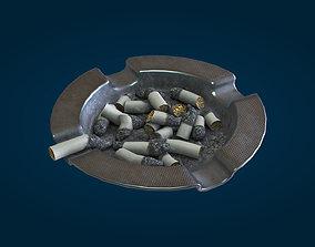 Vintage ashtray 3D asset