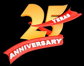 animated 3D Logo 25th Anniversary Animated
