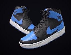 3D model Sneaker Nike Air Jordan Blue Black