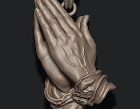 Praying Hands Pendant Necklace 3d