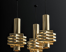 3D model Tri cone pendant light by J Hoogervorst