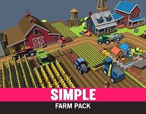 Simple Farm - Cartoon Assets 3D model