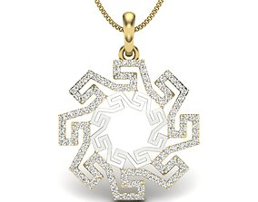 Diamond Pendant For Ladies 3D printable model silver
