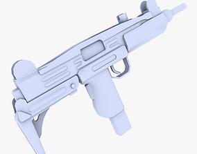 Uzi SMG 3D asset