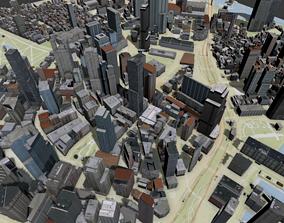 Boston USA topography street map exterior 3D model