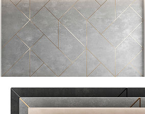 Decorative wall panel set 48 3D