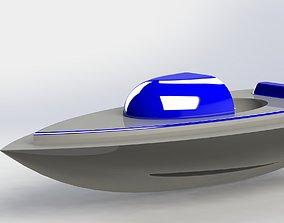 Boat 3D model cruising