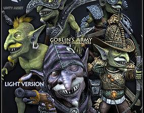 3D asset Goblins Army Light Version