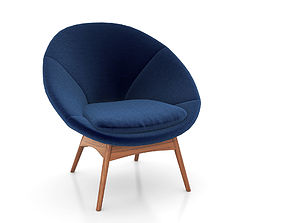 Luna Chair by West Elm 3D model