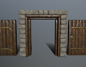 3D model game-ready door 1