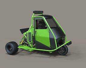 3D model Ape rally car
