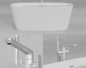 3D asset Ideal Standard Dea Duo Bathtub E3066 A6347