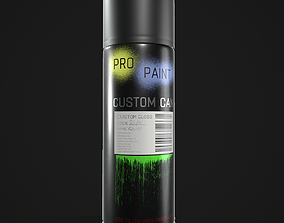 3D model low-poly Spray Paint Can
