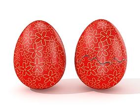 Easter Egg Cracked N010 3D model