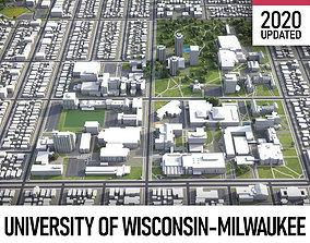 University of Wisconsin-Milwaukee 3D asset