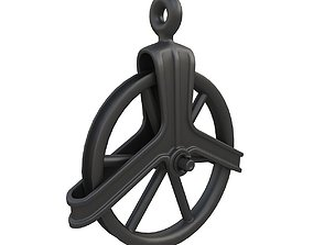 Vintage Cast Iron well pulley 3D model