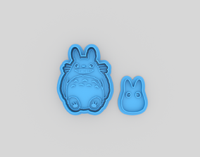 Totoro smile and chibi cookie cutters 3D printable model