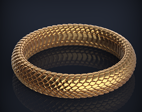 Snake Jewelry wedding bands 3d print model