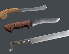 3D model Stylized machete pack