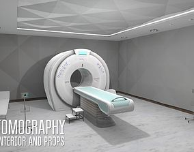 Tomography - interior and props 3D asset